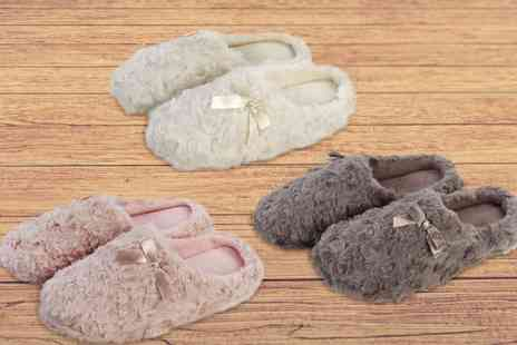 Ckent - Pair of womens curly faux fur slippers keeping you comfortable in cream, mink and pink - Save 53%