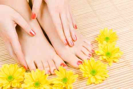 Beauty Hunters - Shellac Manicure with Optional Pedicure - Save 55%