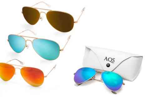 AQS Brand - AQS James Unisex Mirrored Aviator Sunglasses With Free Delivery - Save 0%