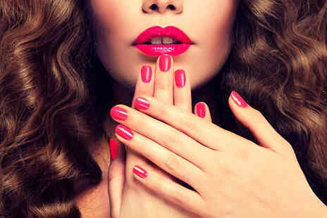LittleGem Beauty - CND shellac manicure with a hand and arm massage, plus Prosecco, or opt for a pedicure with a leg and foot massage - Save 53%