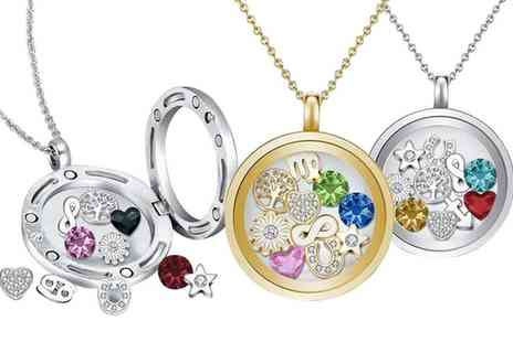 Neverland Sales - Floating Charms Necklace Made with Crystals from Swarovski With Free Delivery - Save 79%