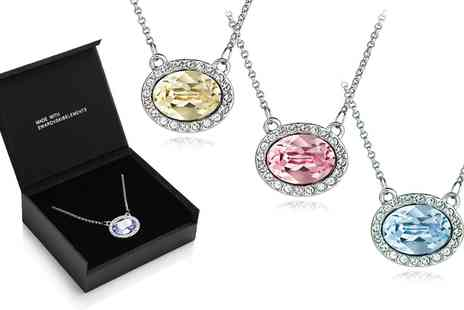 Groupon Goods Global GmbH - Crystal Eclipse Necklace Made With Crystals from Swarovski - Save 72%