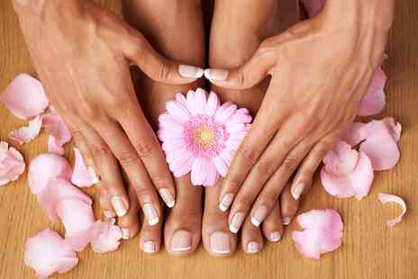 The Shed Hair  Beauty Boutique - Shellac Manicure or Pedicure or Both - Save 49%