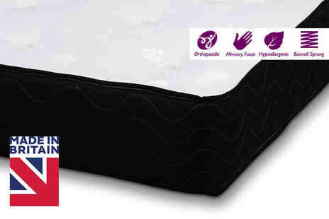 Trusleep - Single, small double or double or king size SleepWell Orthopaedic Memory Foam Sprung Mattress - Save 82%