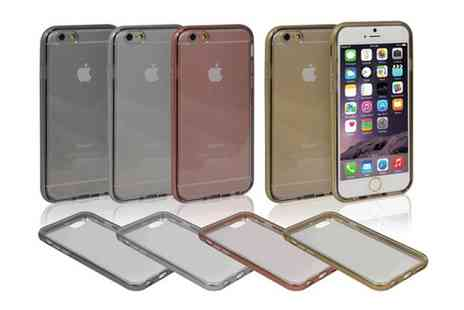 Groupon Goods Global GmbH - Hard Protective Metal Effect Case for iPhone - Save 58%