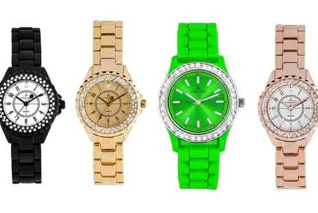 Groupon Goods Global GmbH - Kim and Jade Watches with Crystals from Swarovski - Save 83%