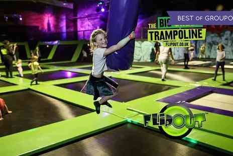 Flip Out Birmingham - One Hour Trampoline Jumping for Up to Four - Save 25%