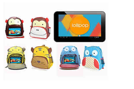 J & Y - Childrens 7 Inch tablet and animal backpack bundle choose from three groovy designs - Save 79%