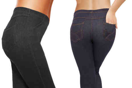 Ckent - Ladies jeggings in black or blue - Save 46%