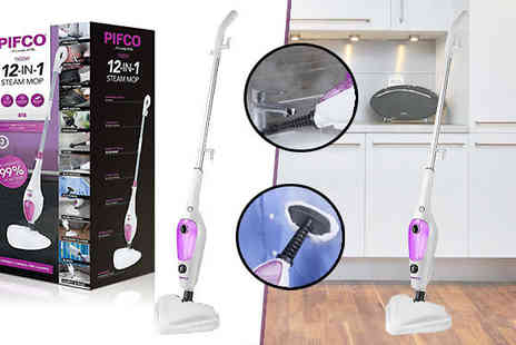 AMS Global - Pifco 12 in 1 Multi Function Steam Mop - Save 62%