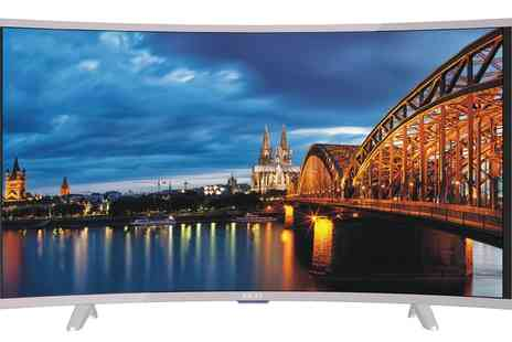 Groupon Goods Global GmbH - Akai CTV554 55 inch Curved UHD Smart TV With Free Delivery - Save 63%