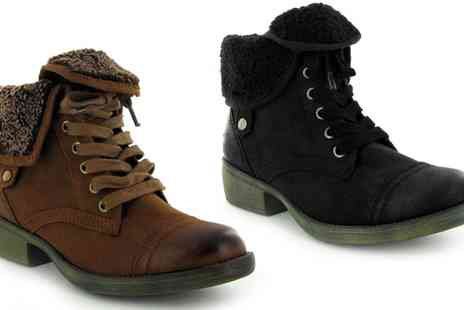 Groupon Goods Global GmbH - Womens Rocket Dog Tiffany Ankle Boots in Choice of Colour - Save 0%