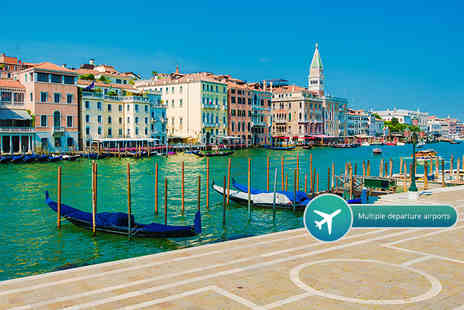 Crystal Travel - Two or Three night 4 Star Venice break including breakfast, flights and gondola ride - Save 52%