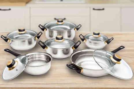 ViVo Technologies - 12 piece stainless steel cookware set - Save 71%