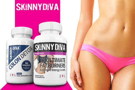 Skinny Diva - One month supply of T5 and Colon Detox capsules - Save 81%