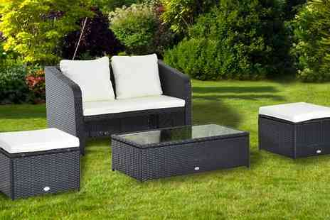 MHSTAR - Outsunny Four Piece Rattan Sofa Set - Save 55%