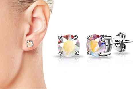Groupon Goods Global GmbH - Aurora Borealis Earrings with Cystals from Swarovski - Save 83%