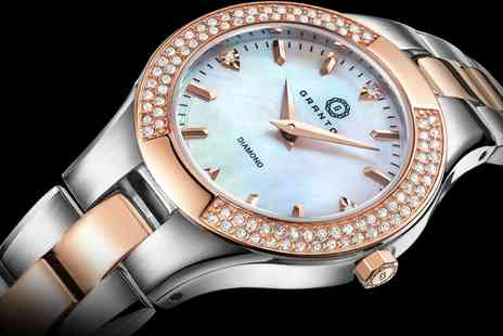 Deal Of Fame - Granton Presence Quartz Womens Watch with Diamonds Include Free Delivery - Save 83%