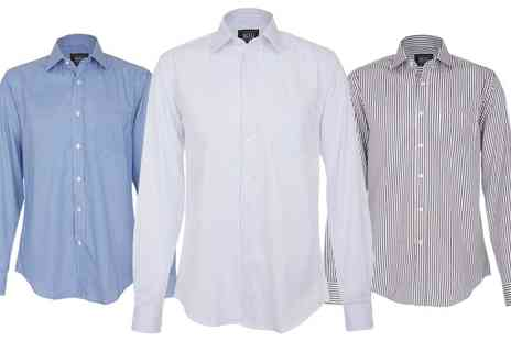 Groupon Goods Global GmbH - Mens Long Sleeve Formal Shirts by MIG - Save 0%