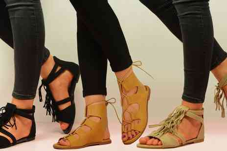 Groupon Goods Global GmbH - Womens Lace Up Sandals in Choice of Styles and Colours - Save 0%