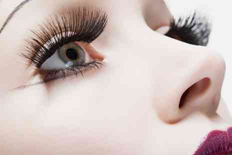 HMB Salon - Full Set of Designer or Russian Volume Eyelashes with Extra Volume Option - Save 60%
