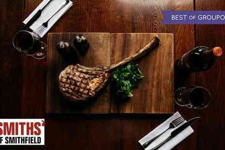 Smiths of Smithfield - Tomahawk Steak with Chips and a Bottle of Malbec for Two - Save 45%