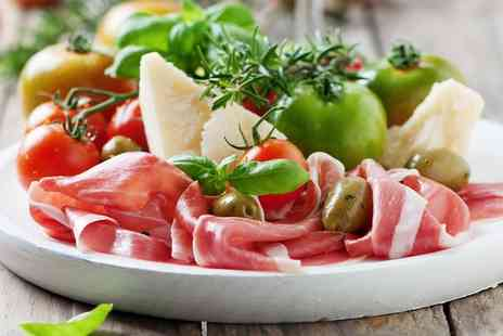 Just Starters & Pizza - One or Two Course Italian Meal for Two or Four - Save 50%