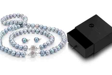 Groupon Goods Global GmbH - Lavender Semi Baroque Pearl Set with Gift Box - Save 87%