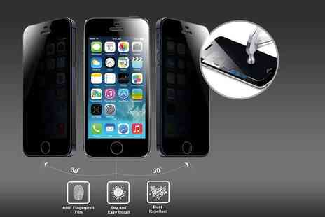 The Fone Stuff - iPhone privacy glass screen protector - Save 80%