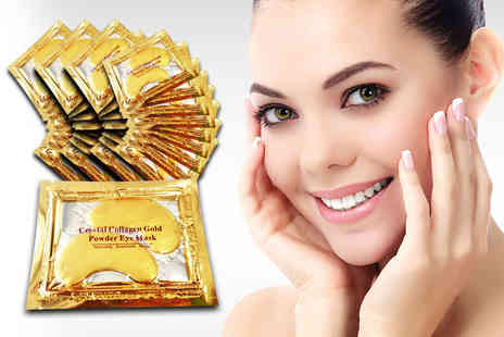 Forever Cosmetics - Set of 20 crystal gold collagen eye masks - Save 92%