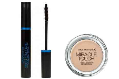 Groupon Goods Global GmbH - Max Factor Miracle Touch Foundation and Mascara One Set or Two Sets - Save 57%