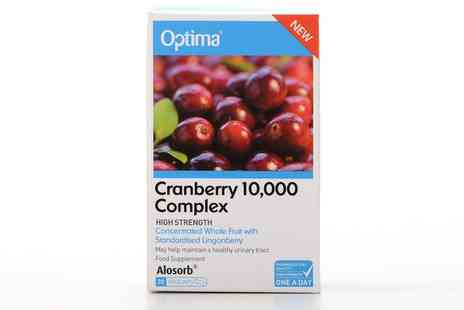 Groupon Goods Global GmbH - Optima Cranberry 10,000 Complex Caps - Save 38%