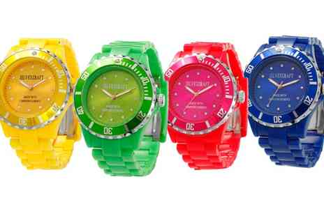 Groupon Goods Global GmbH - Watch Made with Crystals from Swarovski in Choice of Colour - Save 90%