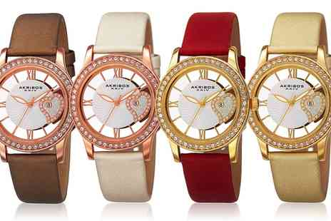 Groupon Goods Global GmbH - Akribos Valentines Day Watch With Free Delivery - Save 71%