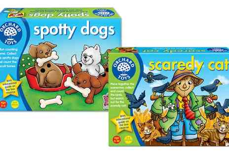 Groupon Goods Global GmbH - Orchard Toys Spotty Dogs or Scaredy Cat Game or Both - Save 13%