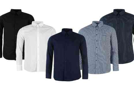 Groupon Goods Global GmbH - One or two Mens Pierre Cardin Long Sleeve Shirts - Save 66%