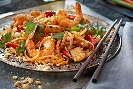 Wok Wow Noodle Bar - Two Course Asian Meal with Wine for Two or Four - Save 61%