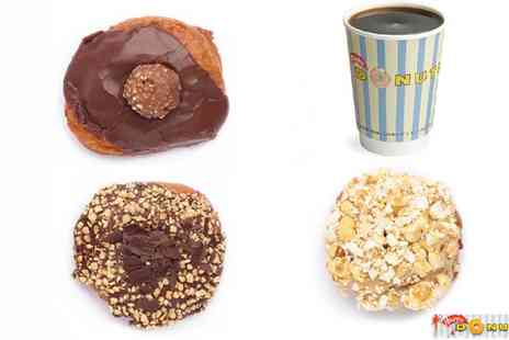 Happy Donuts - Donut and Coffee or Box of Up to 20 Donuts - Save 40%