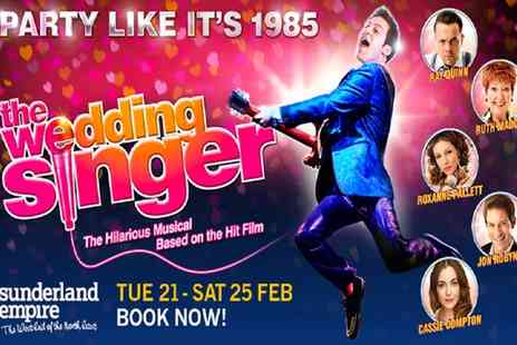 ATG Tickets - Band A or B ticket to The Wedding Singer Sunderland Theatre on 22 To 25 February - Save 40%