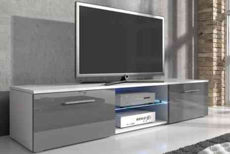 Groupon Goods Global GmbH - Samuel TV Cabinet with Led Lighting With Free Delivery - Save 53%