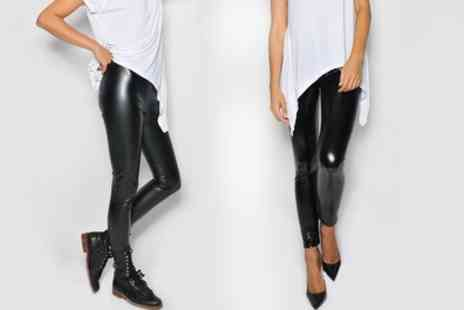 Groupon Goods Global GmbH - Leather Look Leggings - Save 66%