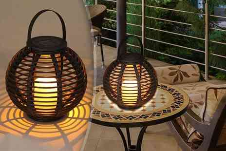 SHS Trading - Round rattan table lantern - Save 68%