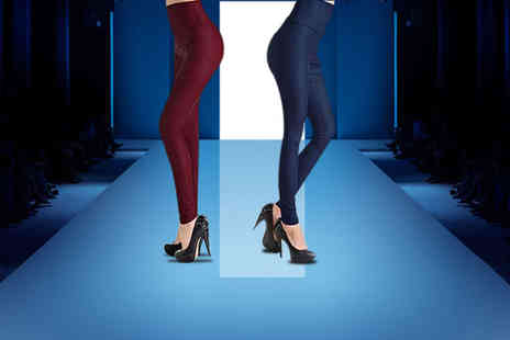 Ckent - Pair of ladies leather look matte finish leggings - Save 43%