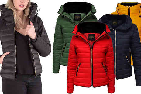 Love My Fashions - Womens Padded Quilted Jacket With Faux Fur Collar Colours - Save 68%