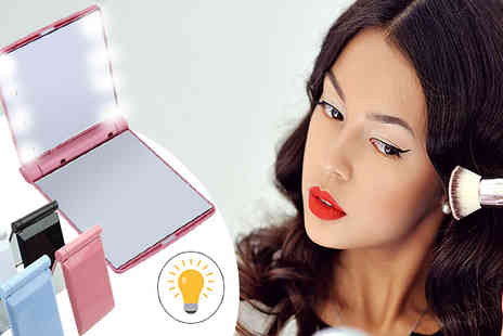 Bazaar me - LED Double Sided Pocket Mirror in 4 Colours - Save 60%