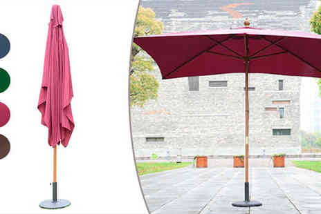 MHStar Uk - Outdoor Wooden Parasol in 5 Colours - Save 0%
