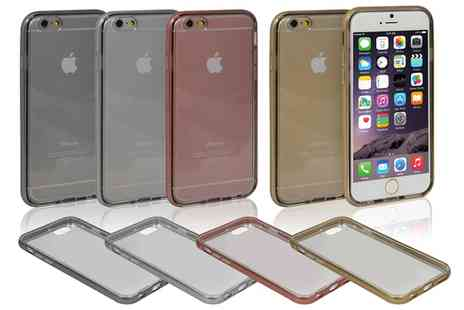 Groupon Goods Global GmbH - TPU Clear Case with Metal Look for iPhone - Save 60%
