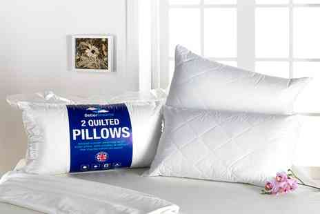 Groupon Goods Global GmbH - Better Dreams Luxury Quilted Pillows - Save 65%