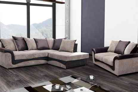 Groupon Goods Global GmbH - Aston Fabric Two Seat Sofa, Corner Sofa or Both With Free Delivery - Save 52%