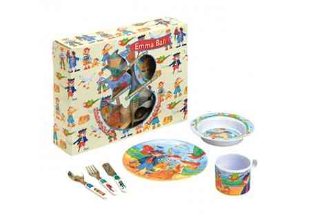 Groupon Goods Global GmbH - Emma Ball Childrens Pirates Melamine Six Piece Dinner Set - Save 63%